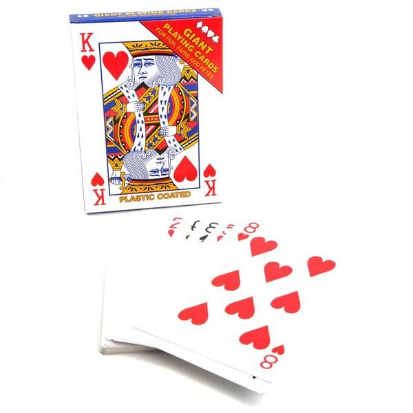 "Large Playing Cards - 4.75"" x 6.5"""