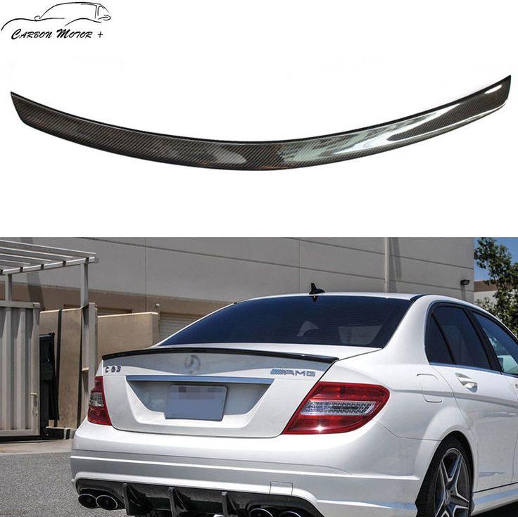 For 2008 - 2014 Mercedes Benz W204 C180 C200 C350 C300 Carbon Fiber Spoiler Wing