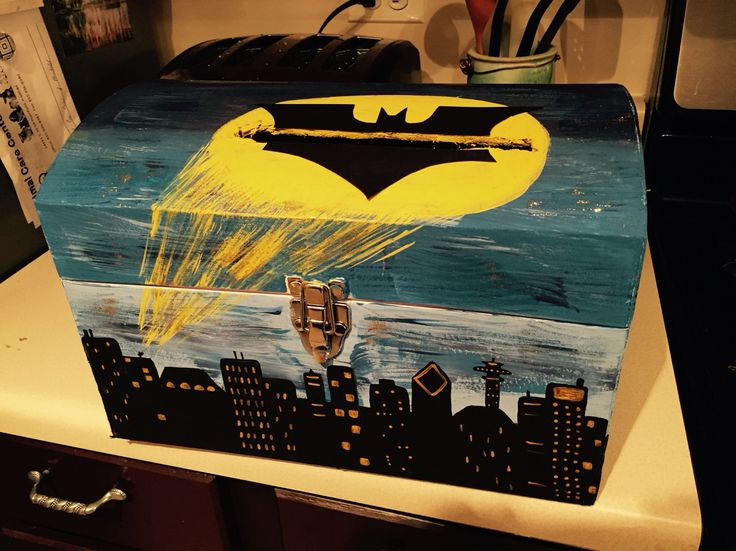 Batman themed wedding card box is a must have