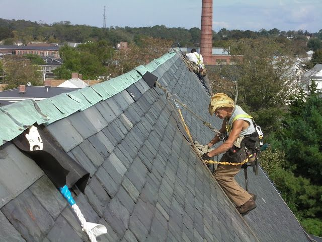 Parts Of A Slate Roof Prone To Ice Damming Will Often Deteriorate Quicker Areas Of Concentrated Water Flow Will Also Subject Slate Roof Repair Slate Roof Roof