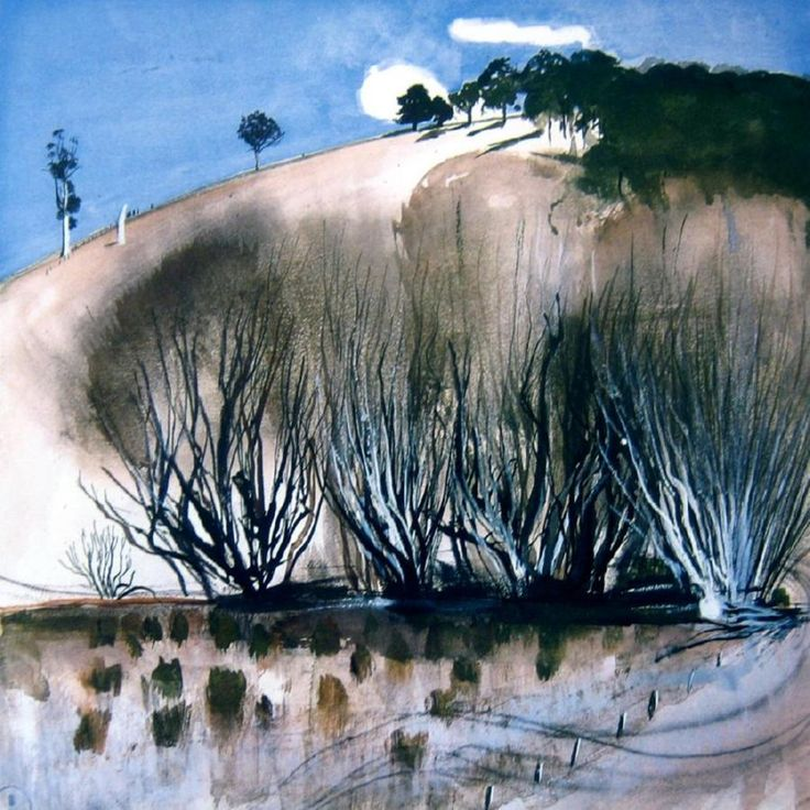 The hillside - brett whiteley