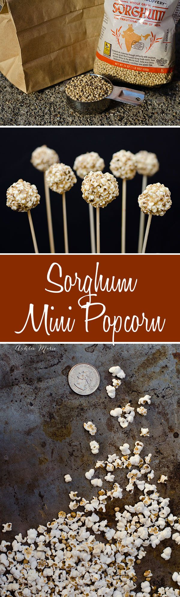 Did you know you can pop more than corn? this Sorghum pops into the most adorable miniature popcorn kernels, barbie popcorn, and you can make super cute mini popcorn balls with it