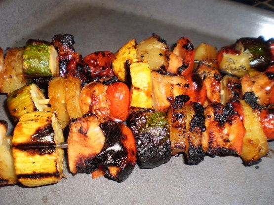 Chicken is marinaded in a sweet light glaze to create this grilled kabob recipe.  Another recipe from Land O Lakes website.