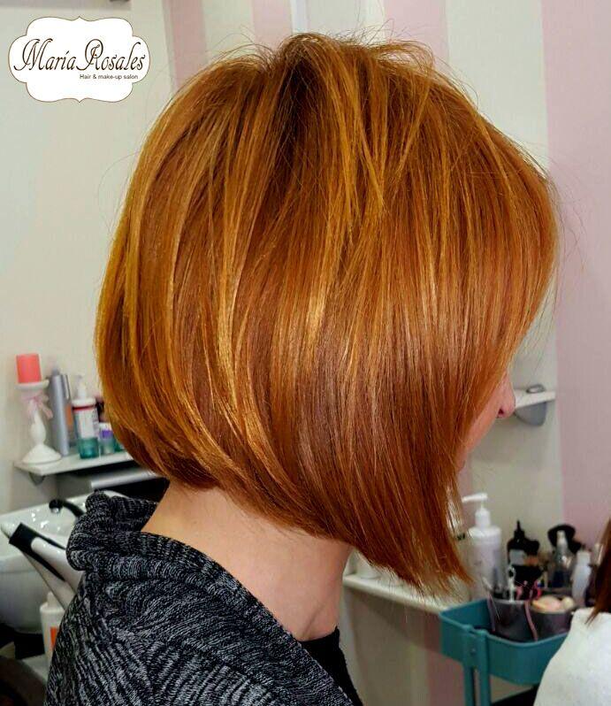 #pelirrojomandarina #bob invertido #mariarosaleshair #haircolour #hair #color #haircut #corte #tendencia #cabello #tejeiro5 #granada 958058517