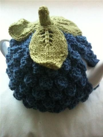 So cute, want to make one!    BlueBerry Tea Cosy  Pure Wool  Handknitted  by by taffertydesigns, $30.00
