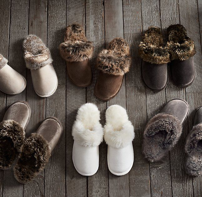 Luxe Faux Fur Scuff Slippers BEST women's slippers EVER!  The fur wears down after a year, so buy a new pair every November for the Holiday's!  You'll thank me, ShoppingTutor.  :)
