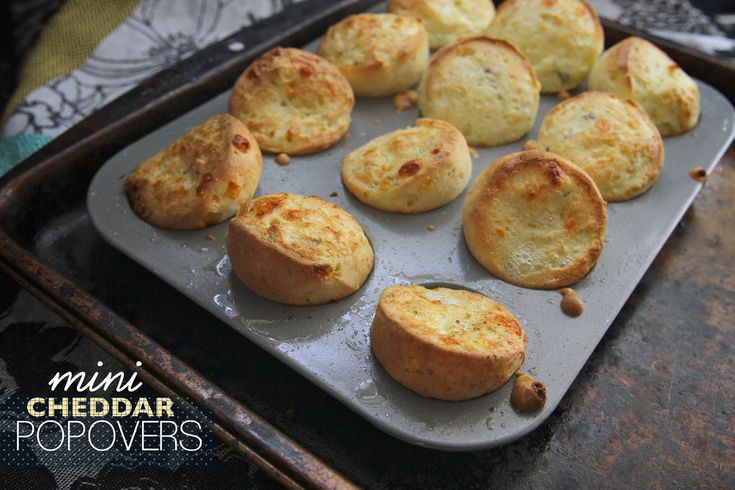 Mini Cheddar Popovers | Cheddar and Minis