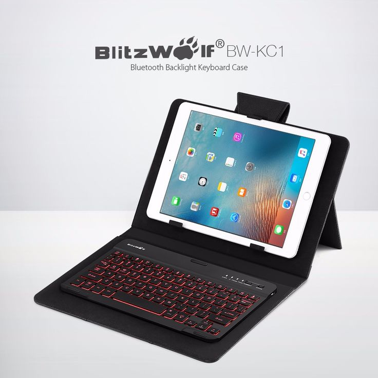 BlitzWolf® BW-KC1 Bluetooth 3.0 Backlight Keyboard PU Leather Case For 7-10 Inch Tablet
