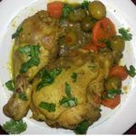 Algerian Chicken with olives- Tajine Zitoune