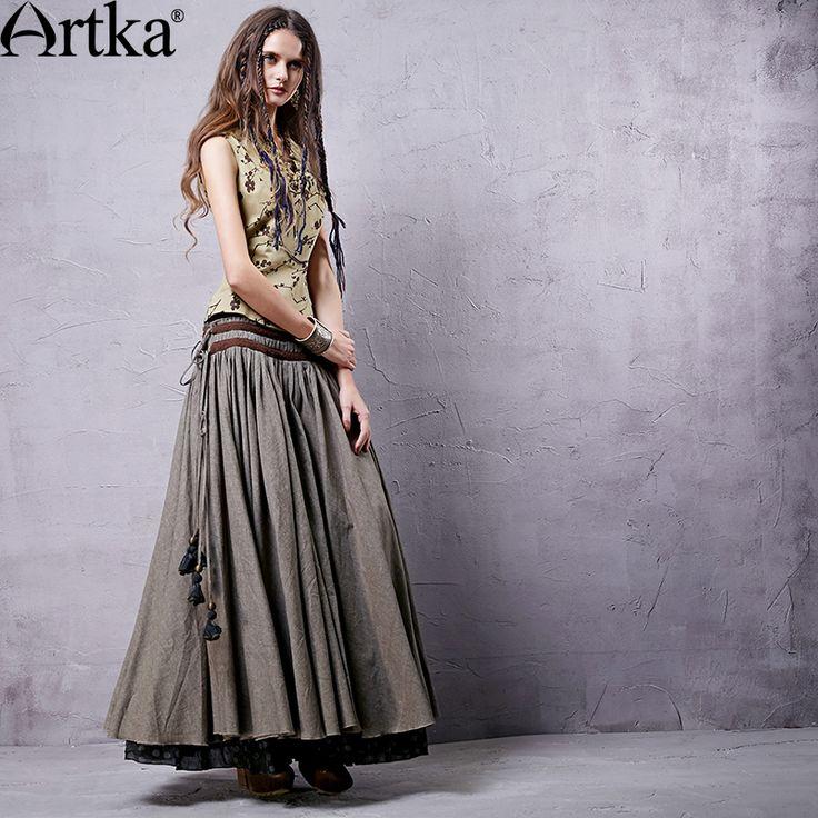 Artka  ретро женская осенняя одежда цыганская облегающяя классическая…