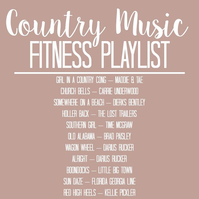 Champagne and Pearls: Fitness Playlist: Country Music