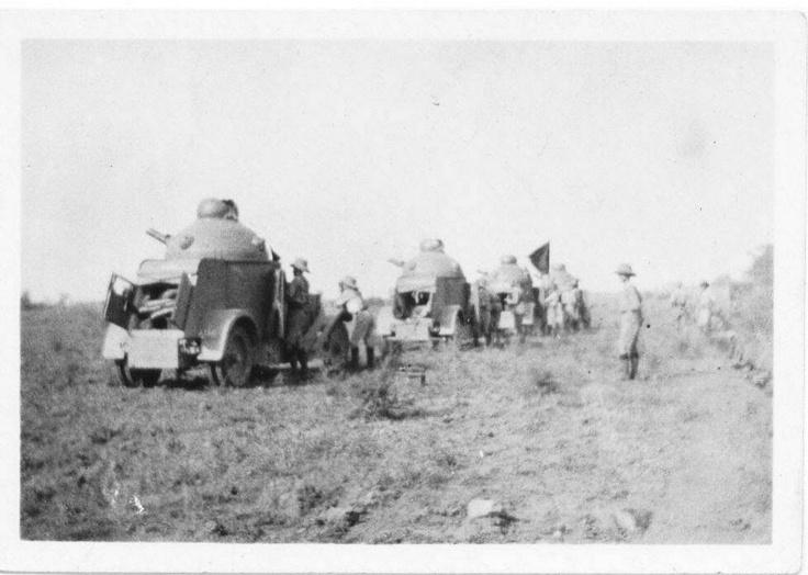 Practice Range - Crossley Armoured Cars, North West Frontier 1920s