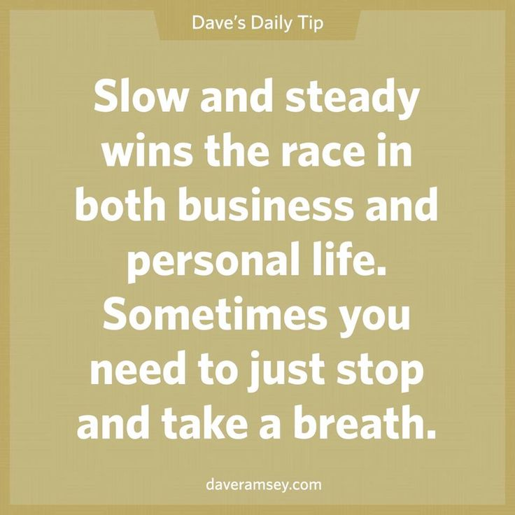 slow and steady relationship quote