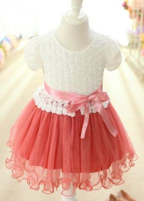Round Collar Flower Girl Dress On Sale