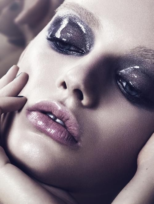 Glossy eye/Wet look. I will use black liner or eyeshadow with gloss or Vaseline on top of this to create a glossy look.