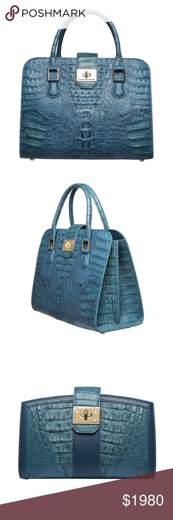 """D'MOM Deluxe Noble Nile Crocodile Hebilla Handbag! 🌺 description is in the last picture.   🌹2017 officially signed with (LVMH) crocodile leather supplier Singapore HENG LONG signed a contract.   🌹D'MOM selection of """"super"""" grade crocodile leather.  🌹customize service/ Crocodile leather v.s handmade  🌺 website: dmomspain.com D'MOM Bags"""