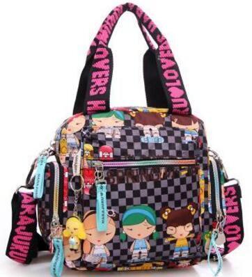 Kiple原宿人形ハンドバッグ防水ナイロン布の女性のバッグワンショルダークロスボディ女性のハンドバッグ母バッグ