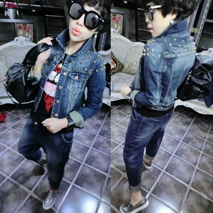 >> Click to Buy << Europe 2016 new autumn Korea fashion nail head heavy decorative cowboy jacket slim female #Affiliate