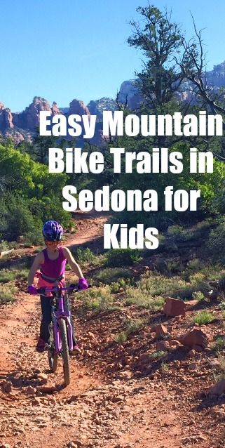 I wanted to find a mountain bike trail here in Sedona that would be fun for us as beginners. I quickly learned that trails are marked green, blue and black, just like ski runs. Combining trail maps with the advice from some locals, we discovered the best easy mountain bike trails in Sedona for kids.