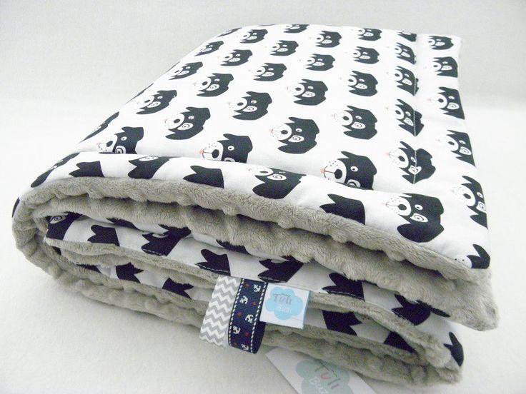 kocyk minky w stylu skandynawskim pieski szary babyblanket dogs #kocykwpieski http://sklep.tulibuzi.pl/index.php?id_product=208&controller=product