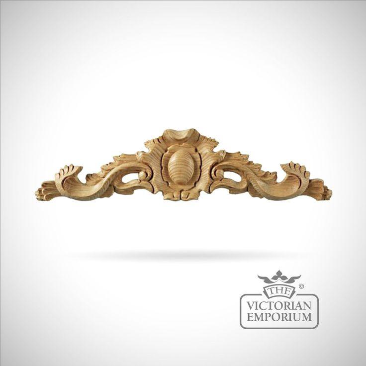 Buy Victorian Pediment Frieze, Decorative mouldings - 100mm high x 440mm wide x 20mm thick