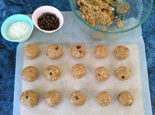 Raw (edible) cookie dough balls  These bite-sized morsels are everything you ever wanted in a guilt-free snack.   They're sweet and gooey, peanut-buttery, melt-in-you-mouth AH-MAZING! They also contain no refined sugars, and are vegan friendly.
