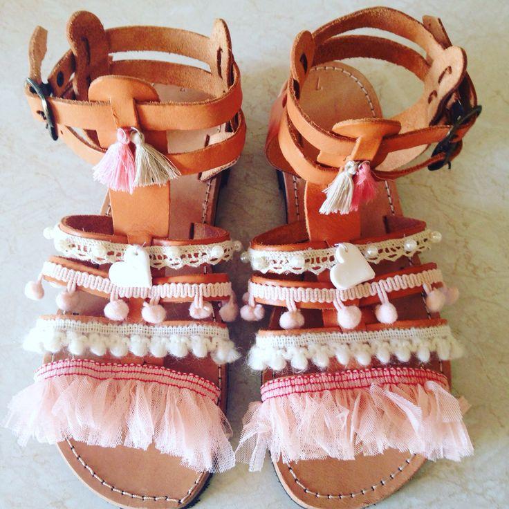 Boho handmade sandals
