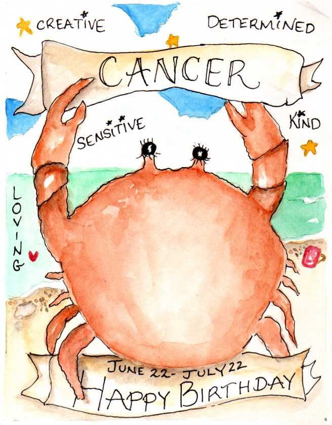 Cancer Sign:  June 22 - July 22 July 7th is the love of my life's Birthday! May God bless you and keep you in his arms! I love you honey!