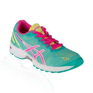 Asics - Gel DS Trainer 19 Running Shoe - Emerald/Hot Pink/Sunny Lime