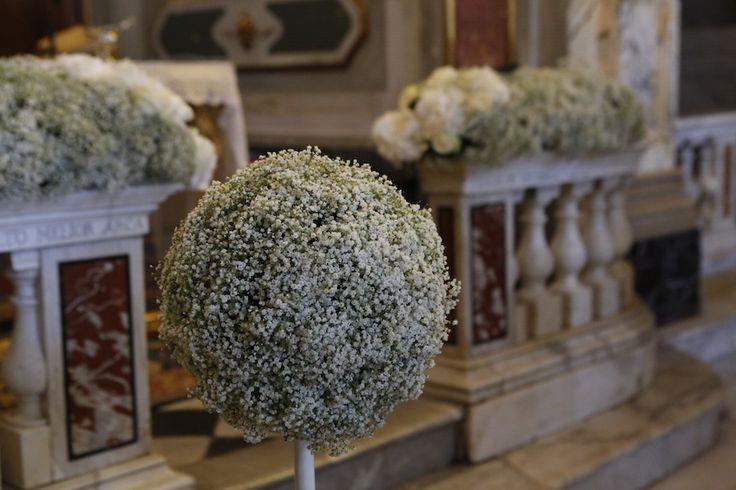 Addobbi floreali per la chiesa #matrimonio