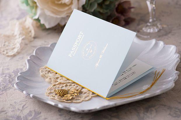 jパスポート風招待状・洋風スタイル