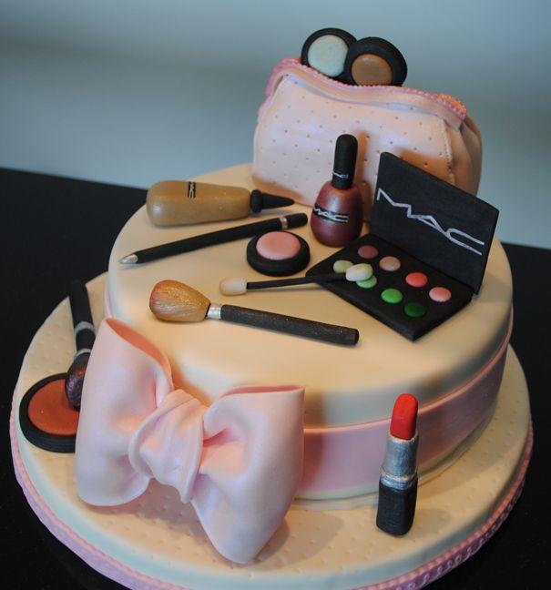 makeup cake                                                         torta maquillaje