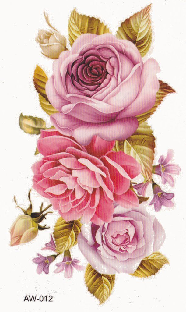 Vintage Flowers Part - 39: Mary Vintage Flower Temporary Tattoo