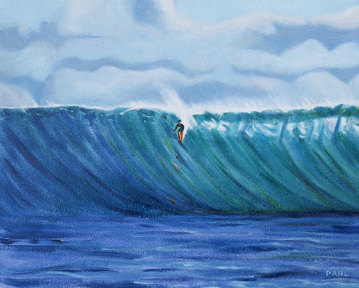 "Hooikipa Wave. 16x20"" oil on canvas © Chris Dahl 2014. $1,200 (unframed) free shipping worldwide. contact to purchase. http://chrisdahlcreative.com/paintings_page2010.html"