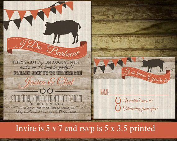 I Do BBQ Shower Invitation | Wedding Reception Only Invitations | with a Country Western Feel!