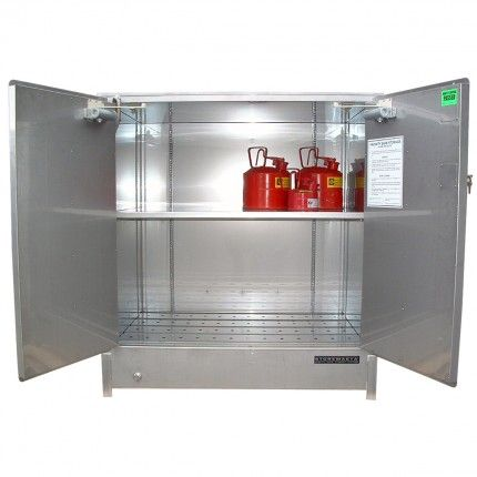 stps250 Stainless Steel Heavy Duty Dangerous Goods Storage Cabinets - Storemasta
