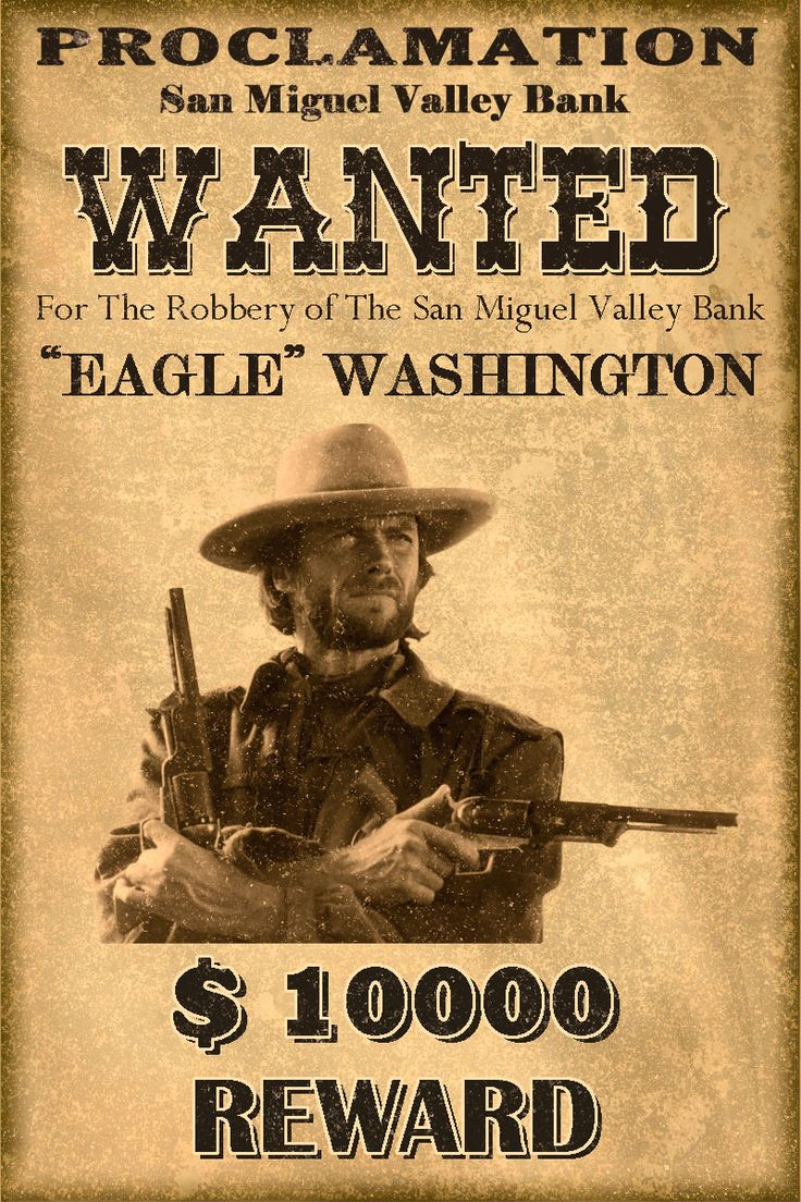 Wanted Poster Western Wanted Posters...