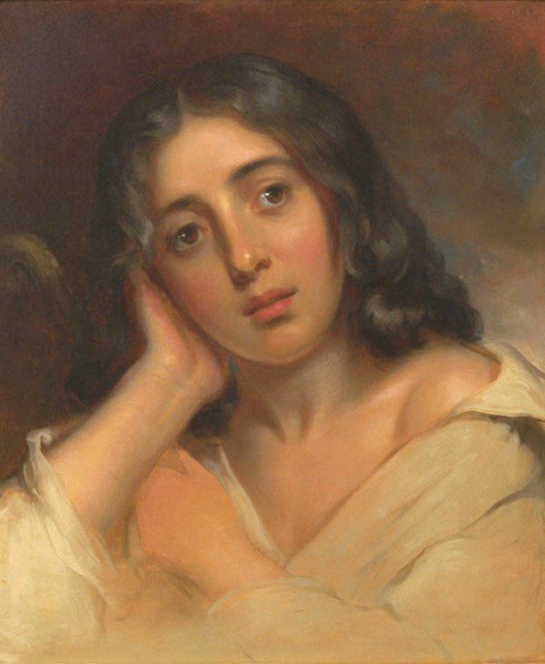 Portrait of George Sand by Thomas Sully, 1826 - George Sand —