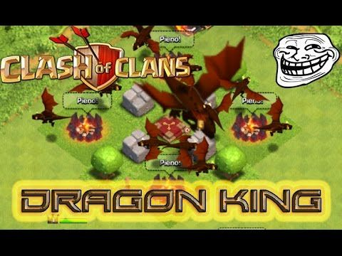 Clash of Clans 20 dragons and dragon king!!