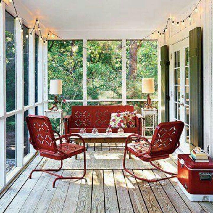 Screened Porch Lights Porch Inspiration Pinterest