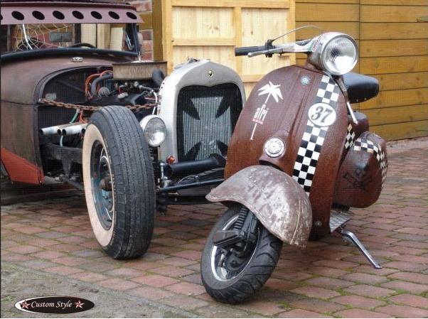 RETRO SCOOTER GARAGE: Rat Style