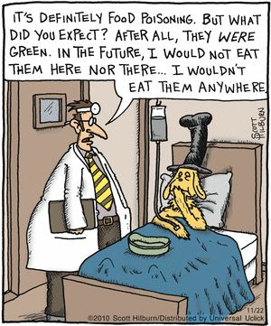 Green eggs and ham...