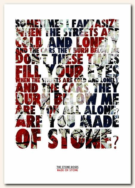 THE STONE ROSES Made Of Stone 2 song lyric by RetrotypePrints
