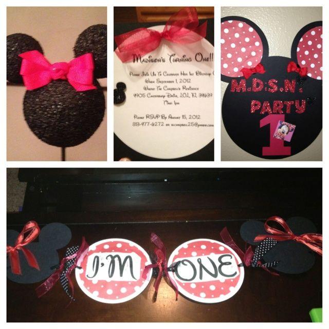 minnie mouse first birthday | Minnie Mouse 1st Birthday theme;-) | Birthday ideas