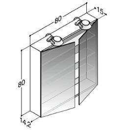 Dansani Calidris Spiegelschrank Saturn 80 cm LED, Weiß Hochglanz Jetzt bestellen unter: https://moebel.ladendirekt.de/bad/badmoebel/spiegelschraenke/?uid=38d4c48e-44bd-5e2e-8528-8df59a4b26bb&utm_source=pinterest&utm_medium=pin&utm_campaign=boards #spiegelschraenke #hochglanz #weiß #bad #badmoebel #spiegelschrank