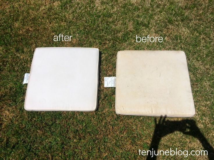 Ten June: How To Clean Outdoor Patio Cushions