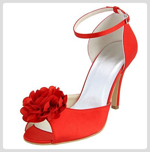 Kevin Fashion ,  Damen Modische Hochzeitsschuhe , Rot - Rojo - Style2-Red - Größe: 43 EU - Damen pumps (*Partner-Link)