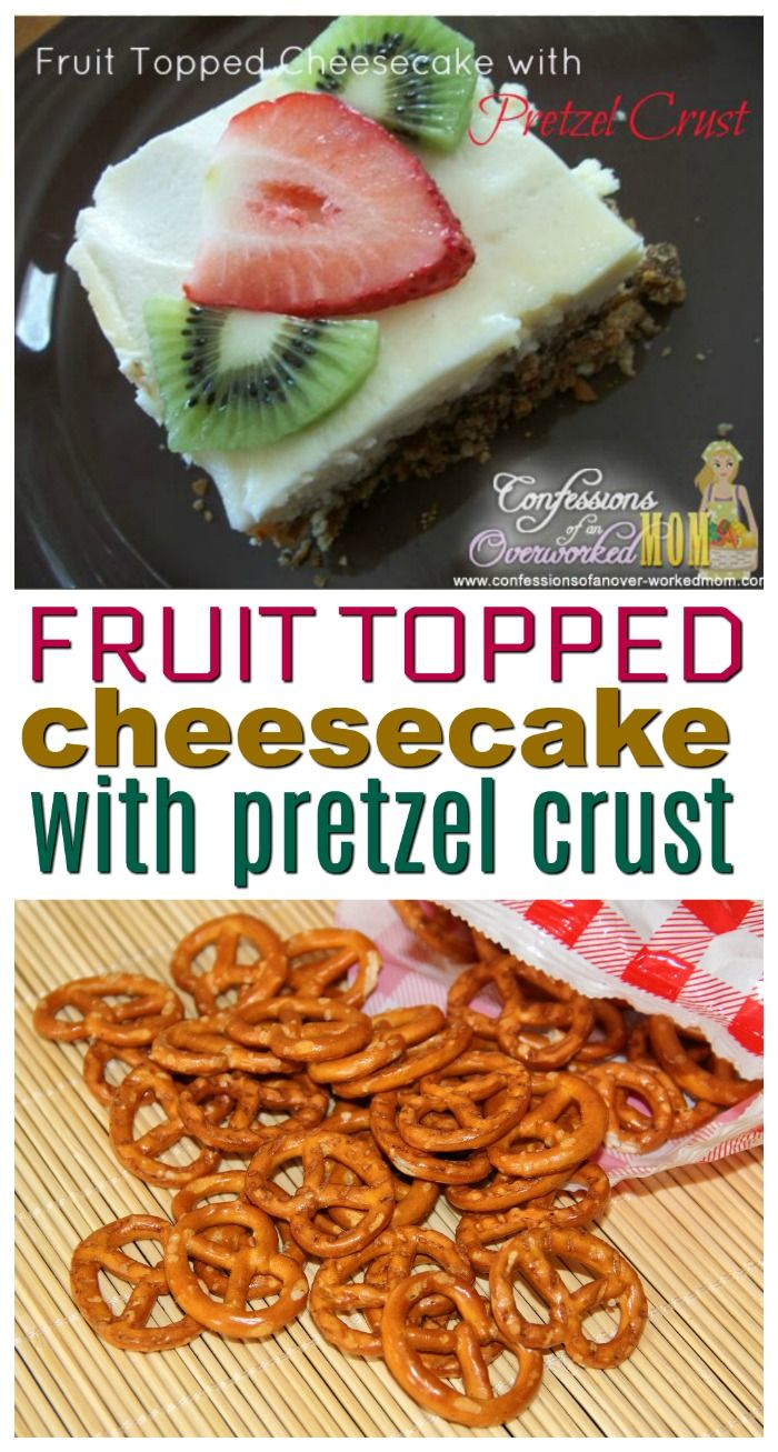 Fruit Topped Cheesecake with Snyders Pretzel Crust recipe