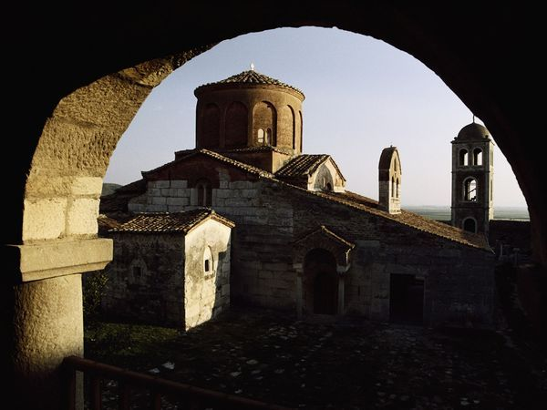 Mosques and churches dot Albania, one of Europe's only majority Muslim nations (Michel Setboun)