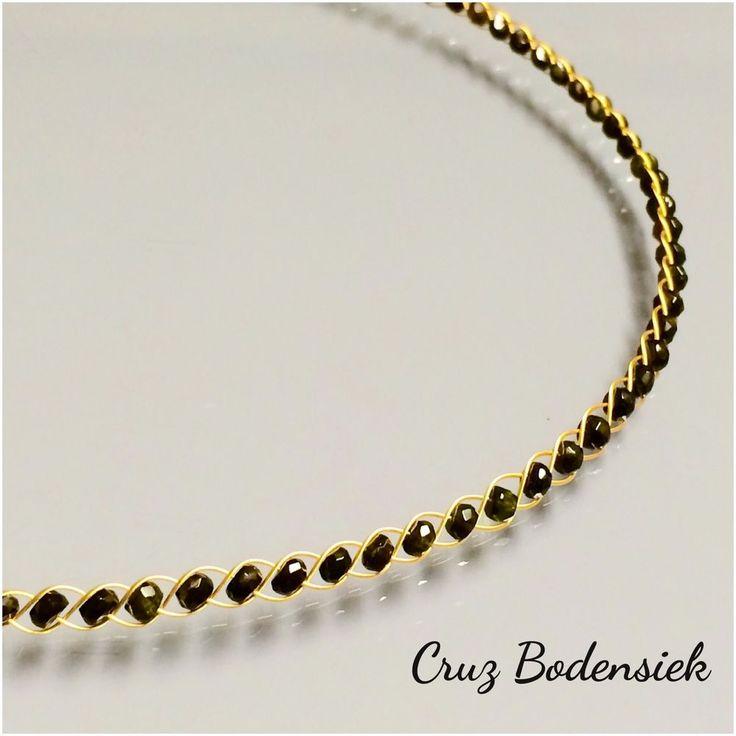 Neues Design Schwarzer Turmalin Collier  750/-Gold Zertifikat ��
